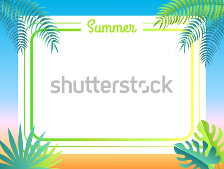 Summer Poster Place for Text Vector Illustration Stock photo © robuart
