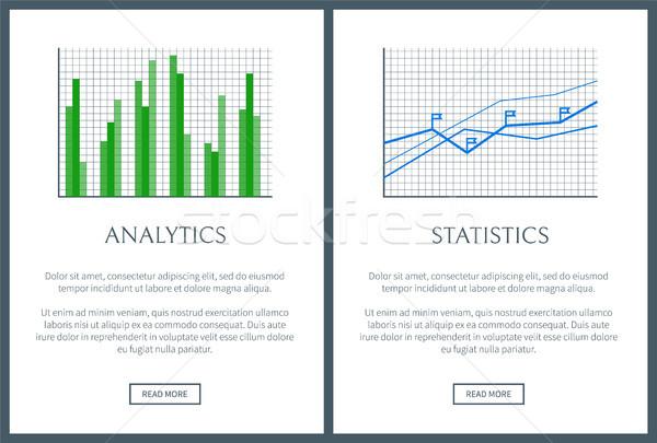 Analityka wykres statystyka wykres kolor karty Zdjęcia stock © robuart