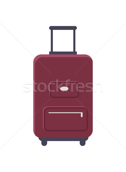 Luggage Standing Isolated Vector Illustration Stock photo © robuart