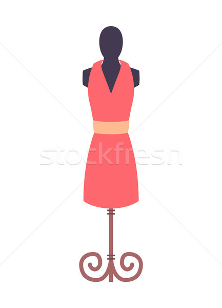 Dress Pink Mannequin Fashion Vector Illustration Stock photo © robuart