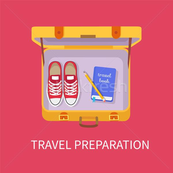 Travel Preparation Luggage Vector Illustration Stock photo © robuart