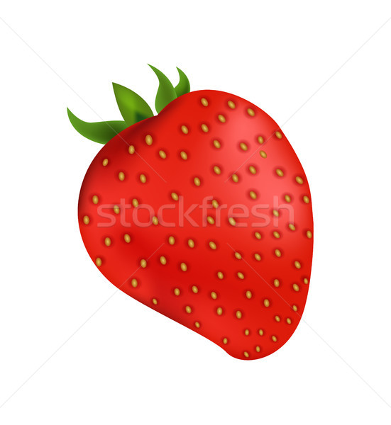 Delicious Organic Strawberry with Small Leaves Stock photo © robuart