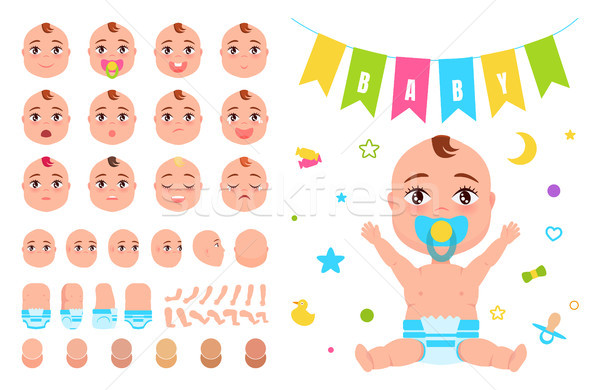 Baby Constructor Create your Newborn Character Stock photo © robuart