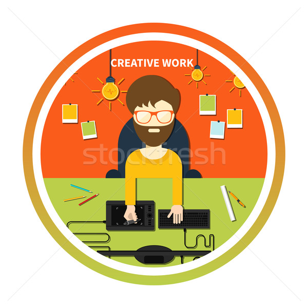 Creative work and designer tools concept Stock photo © robuart