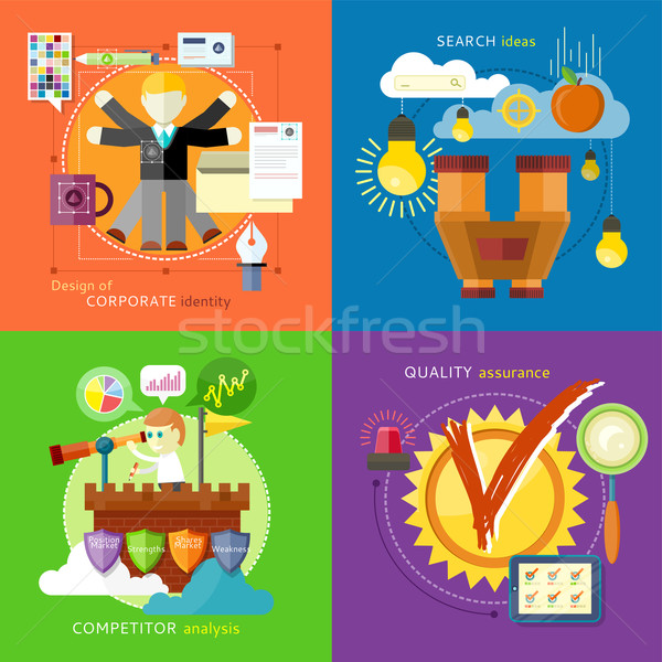 Search Ideas, Competitor Analysis, Identity Stock photo © robuart