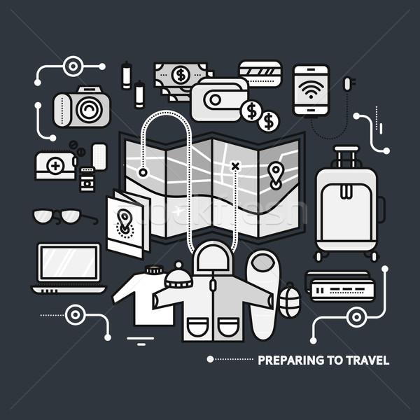 旅行 必要 何 パック 旅 薄い ストックフォト © robuart