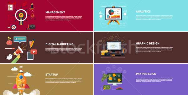 Stock photo: Management digital marketing srartup planning