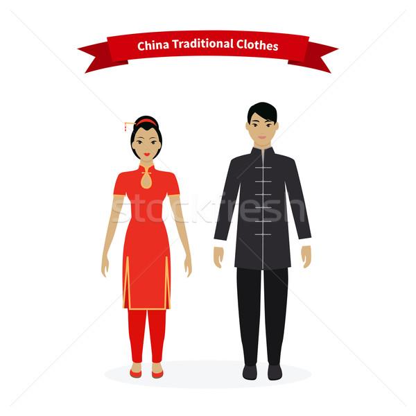 Китай традиционный одежды люди китайский азиатской культуры Сток-фото © robuart