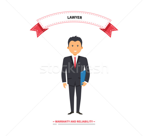 Lawyer Man Warranty and Reliability Stock photo © robuart