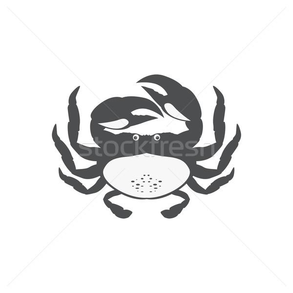 Komik karikatür yengeç ikon yalıtılmış su Stok fotoğraf © robuart