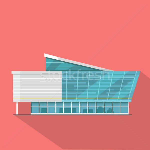 Shopping Mall Web Template in Flat Design. Stock photo © robuart