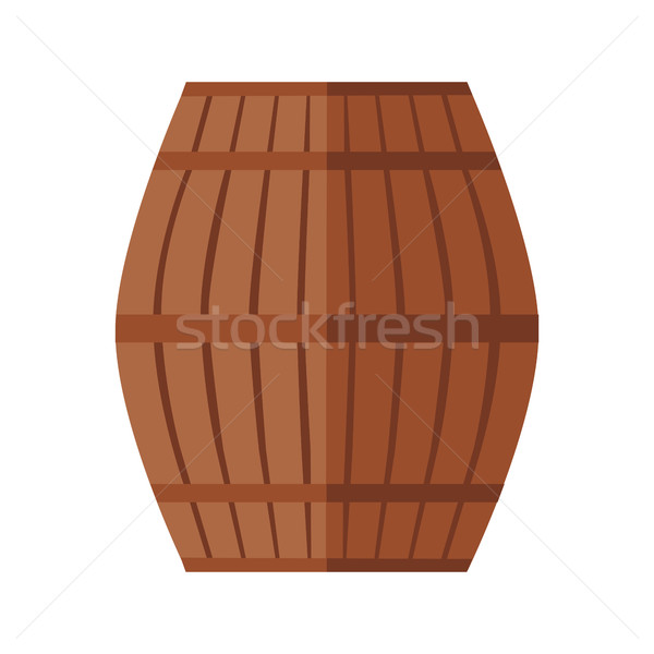 Wooden Barrel Icon Stock photo © robuart