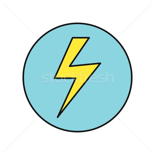 Lightning Icon Vector Illustration in Flat Design Stock photo © robuart