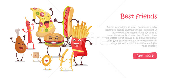 Best Friends, Food Banner Stock photo © robuart