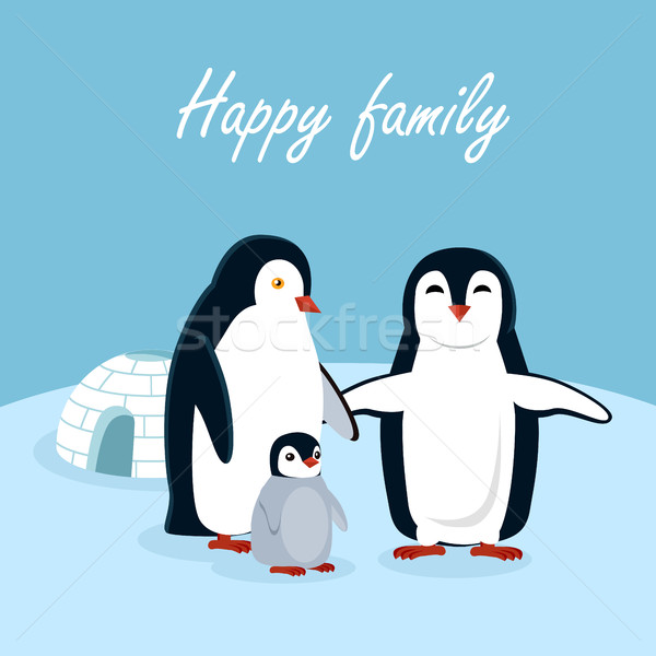 Happy Family Vector Concept In Flat Design Stock photo © robuart