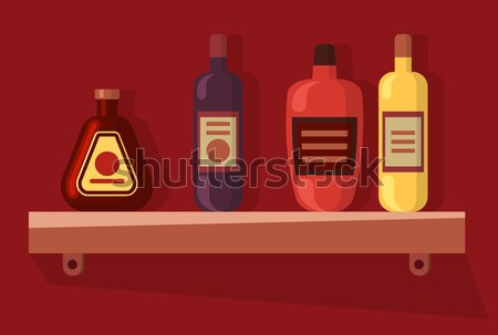 Drinks Alcohol Vector Concept in Flat Design. Stock photo © robuart