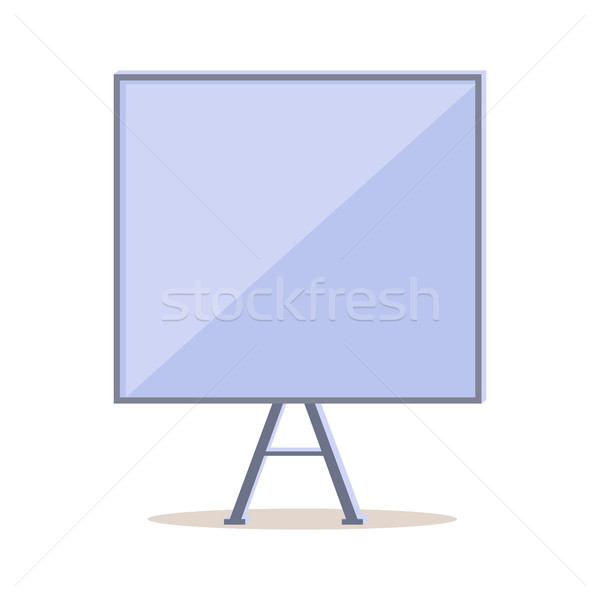 Stock photo: Tripod Whiteboard with Blank Board Screen. Vector