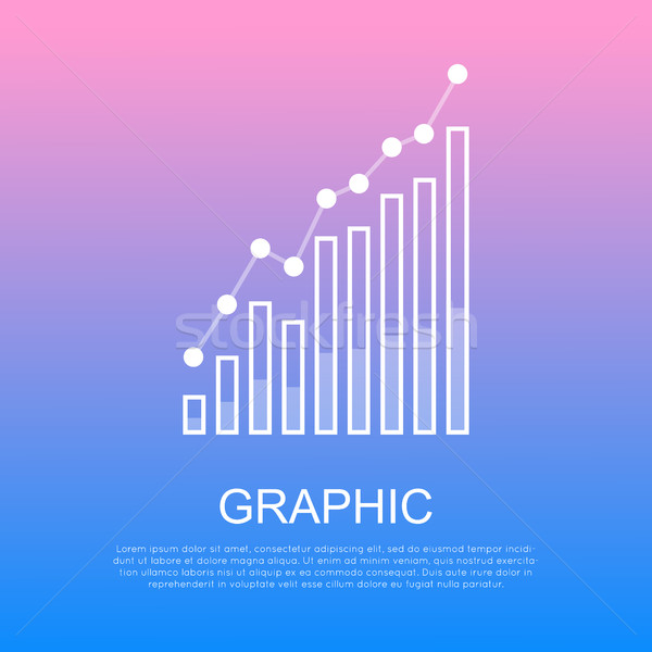 Graphic Rising Column Chart and Text under It Stock photo © robuart