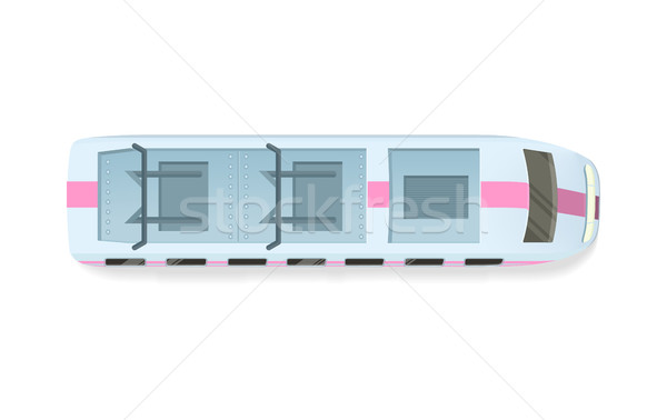 Tramway or Speed Train Top View Vector Icon Stock photo © robuart