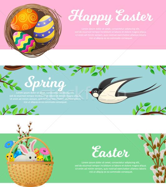 Сток-фото: весны · Христос · воскрес · вектора · веб · Баннеры · набор