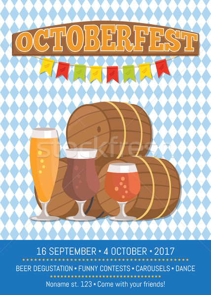 Octoberfest Oktoberfest Promotional Poster Vector Stock photo © robuart