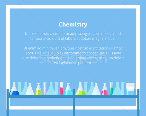 Chemistry Web Banner with Place for Text Vector Stock photo © robuart