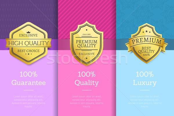 100 pour cent garantir qualité luxe or Photo stock © robuart