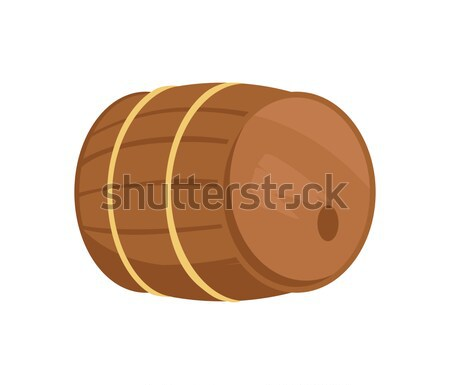 Wooden Barrel of Alcohol Drink Vector Illustration Stock photo © robuart