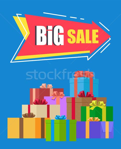 Büyük satış Filmi mavi renkli imzalamak Stok fotoğraf © robuart
