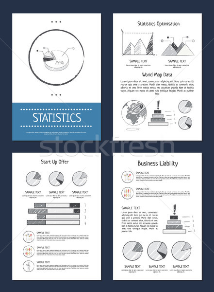 Statistics Representation Vector Illustration Stock photo © robuart
