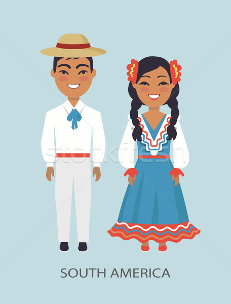 South America Culture, Customs Vector Illustration Stock photo © robuart