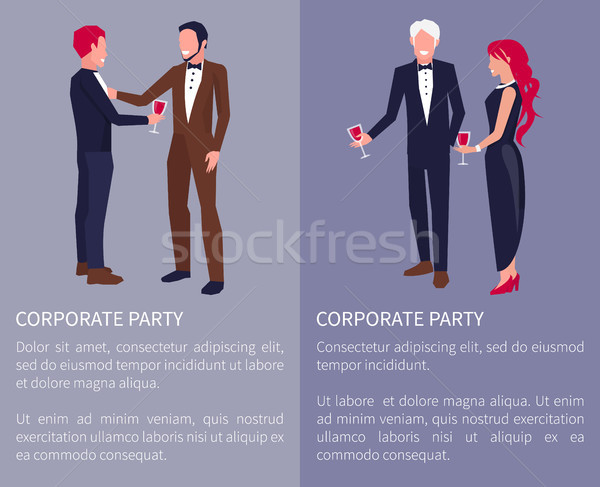 Corporate Party Visualization Vector Illustration Stock photo © robuart
