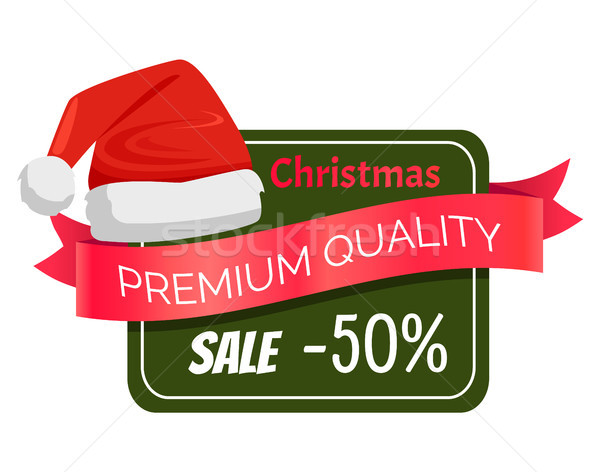 Premium Quality Christmas Sale 50 Discount Hat Stock photo © robuart
