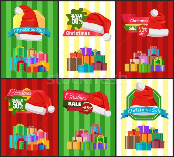 Grande set Natale vendita Pubblicità promo Foto d'archivio © robuart