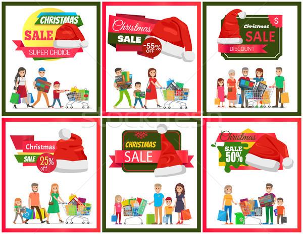 Set of Christmas Sale Premium Quality Banners Stock photo © robuart