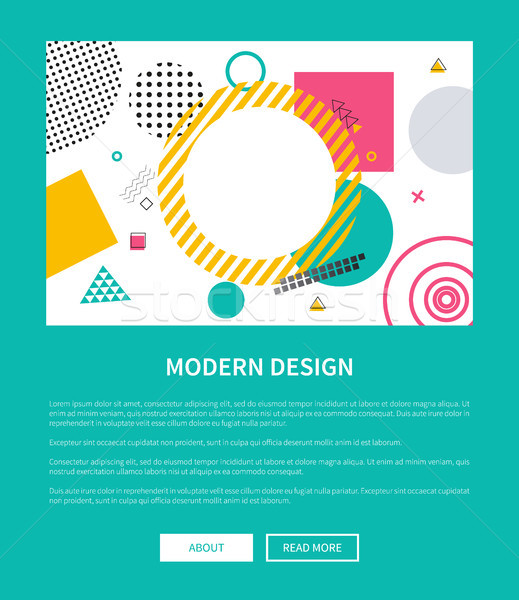Modern Design Blue Page on Vector Illustration Stock photo © robuart