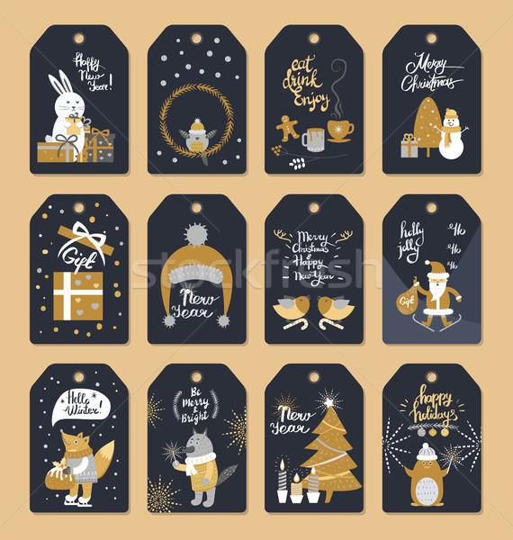 Conjunto natal pronto coleção Foto stock © robuart