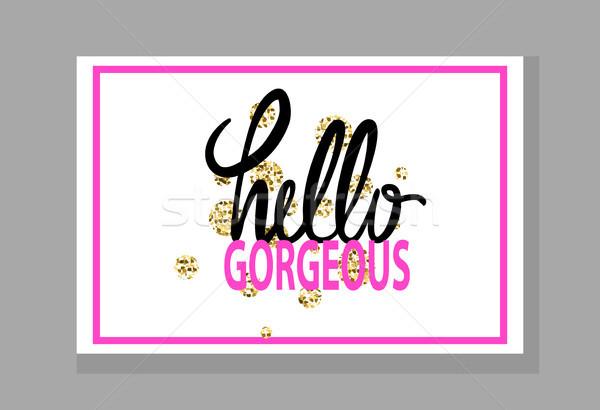 Hello káprázatos graffiti színes szavak különböző Stock fotó © robuart