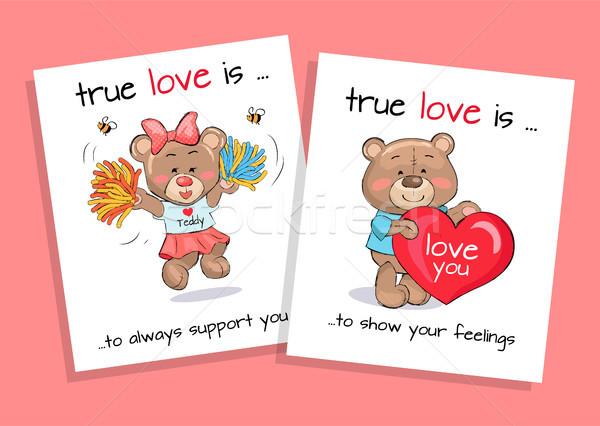 Amor mostrar sentimentos sempre apoiar conjunto Foto stock © robuart