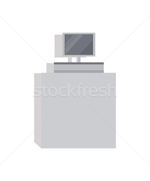 Cashier Counter with Screen Vector Illustration Stock photo © robuart