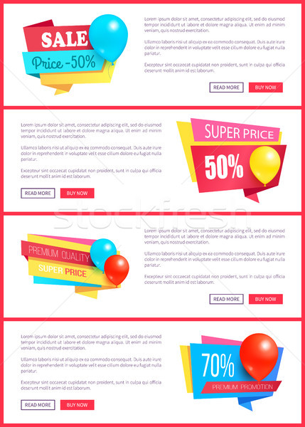 Special Discount Weekend Sale Best Balloons Label Stock photo © robuart