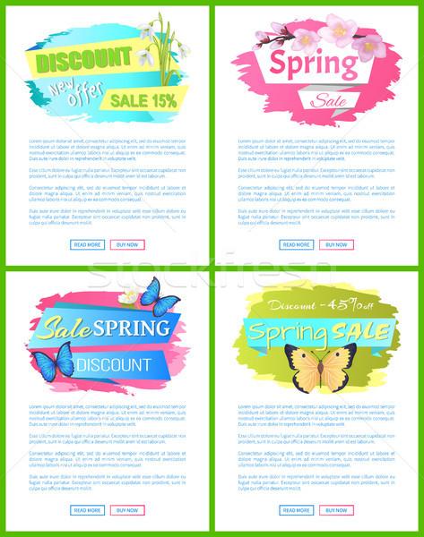 весны продажи веб плакат букет нарциссов Сток-фото © robuart