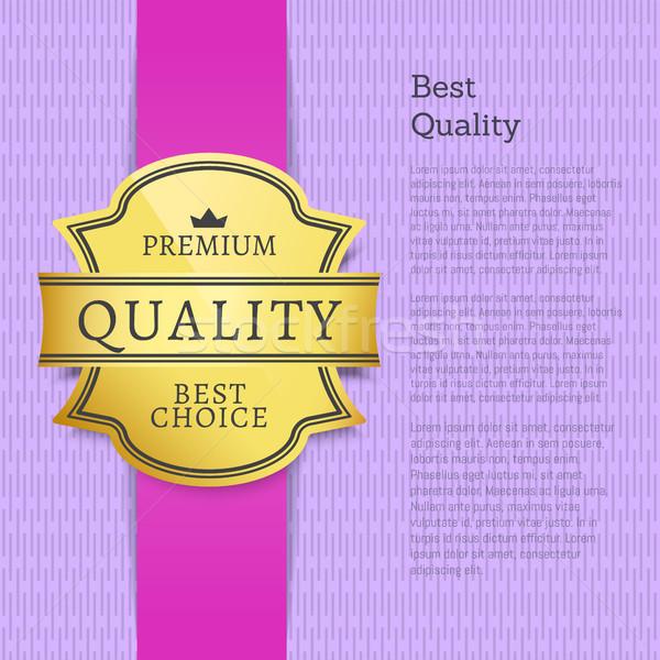 Legjobb minőség prémium szuper választás lila Stock fotó © robuart