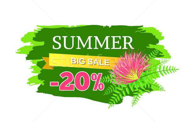 Summer Big Sale 20 Off Advertisement Label Flower Stock photo © robuart