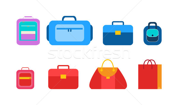 Convenient Bags and Packages for Students Set Stock photo © robuart