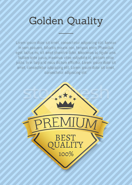 Premium Big Quality Golden Label Poster Gold Stamp Stock photo © robuart