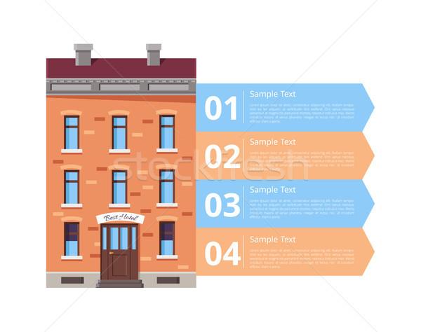 Hotel Services Diagram Icon Vector Illustration Stock photo © robuart