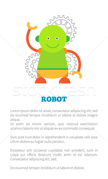 Robot with Smile Poster Text Vector Illustration Stock photo © robuart