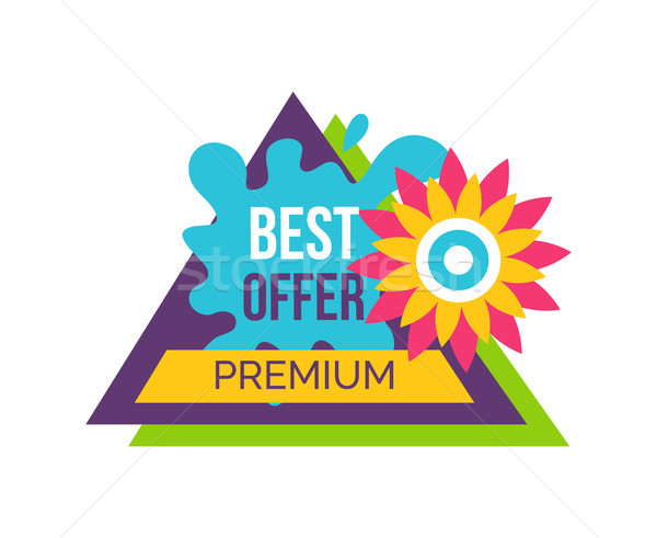 Premium Best Offer Advertisement Sticker Triangle Stock photo © robuart