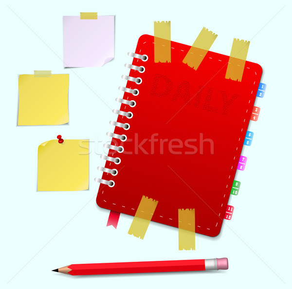 Personal organizer with pencil Stock photo © robuart